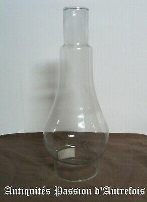 B20130972 - Verre de lampe à pétrole - Diamètre : 7,3 cm - Hauteur : 25,5 cm