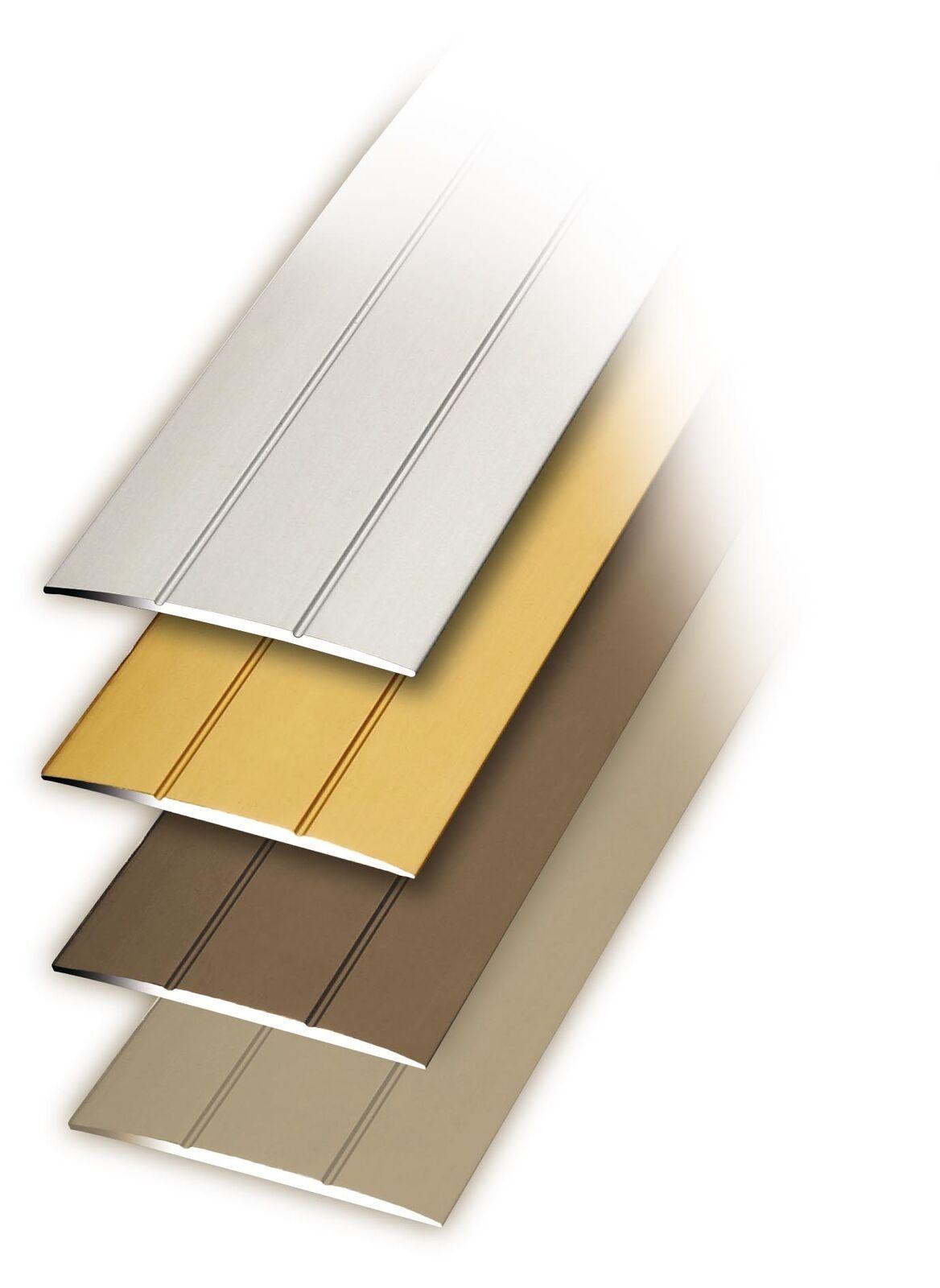 Bodenprofil Übergangsprofil Laminat Profil selbstklebend 100x3,8 cm Alu Farben