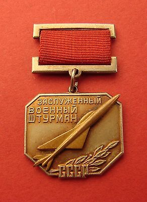 Soviet Russian Badge HONORED MILITARY NAVIGATOR of USSR Medal High Quality COPY