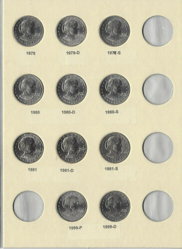 1979 to 1981+1999 P/D/S Susan Anthony Dollars Complete Uncirculated 11 Coin Set