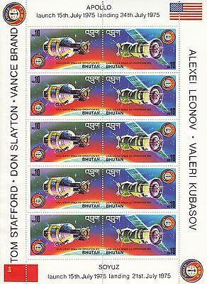 Bhutan Nr. 624A-625A** x 5 Apollo - Sojus / Аполлон - Союз
