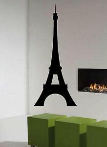 Eiffel Tower Silhouette Paris France Room Decor Vinyl Wall