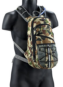 Oztrail Blue Tongue 2L Camo Hydration Pack Camelbak Bladder **UPDATED VERSION**
