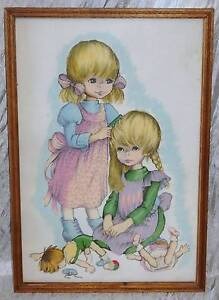 Art Print Picture  Two Sisters Playing Retro Vint Margaret Keane South Windsor Hawkesbury Area Preview