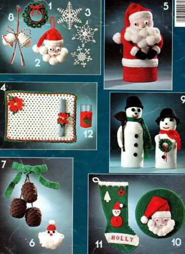 LEISURE Arts/Crochet for Christmas Leaflet/Decor/Crochet Pattern Instructions