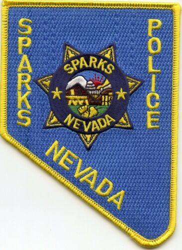 SPARKS NEVADA NV State Shape Shaped POLICE PATCH