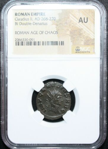 Ancient Roman Empire Coin Claudius II AD 268-270 NGC Graded AU