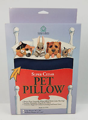 "Super Cedar Pet Pillow MEDIUM Blue 22"" x 29"" USA Made    Just Add Cedar"