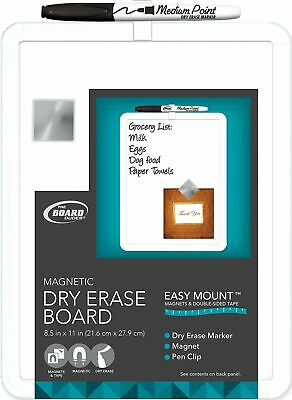8.5x11 Plastic Frame Magnetic Dry Erase Board With Marker Magnet Whiteboard