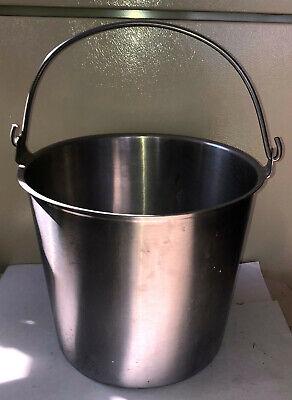 Stainless Steel Vollrath Milk Bucket- Pail -13 Quart Size