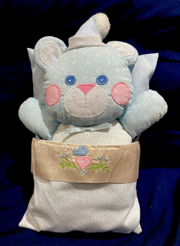 Vintage House Of Hatten Baby Pillow And Matching Bear EUC