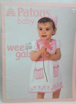 Шаблоны Patons Baby Wee Gals Knitting