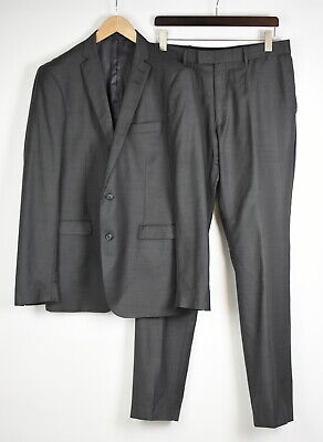 TIGER OF SWEDEN NORDEN Men's 154 or ~XL TALL 100% Wool Grey Formal Suit 35058/GS