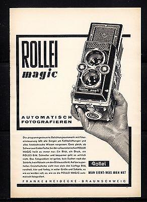 3w417/ Alte Reklame - von 1961 - ROLLEI - Franke & Heidecke - Braunschweig