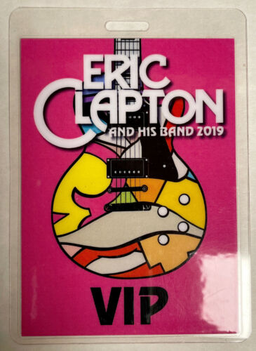 ERIC CLAPTON 2019 VIP LAMINATED BACKSTAGE PASS PINK