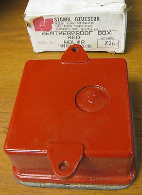 Federal Signal Wblr Weatherproof Box Red