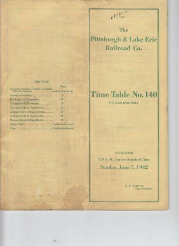 1942 Pittsburgh and Lake Erie Railroad Company ETT #140