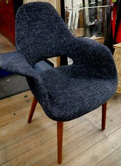 New Retro Black Woven Replica Eames Organic Timber Dining Chairs Richmond Yarra Area Preview