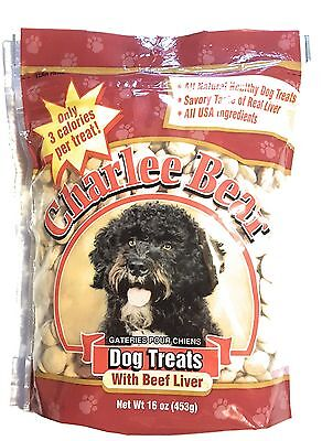 Charlee Bear Dog Treats With Beef Liver All USA Ingredients 16oz (453g) 1 Bag