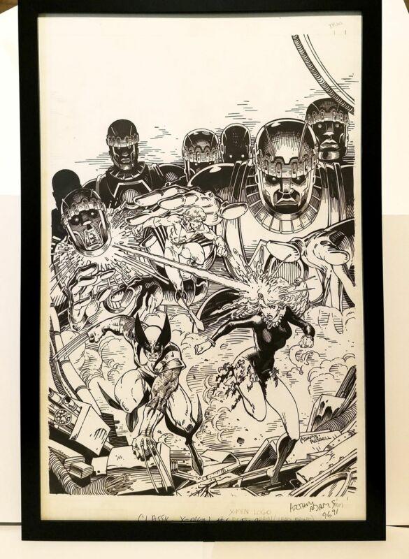 Classic X-Men #6 by Art Adams 11x17 FRAMED Original Art Poster Marvel Comics