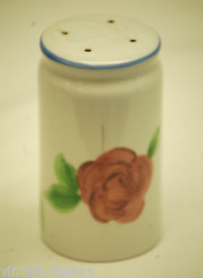 Vntage Pepper Shaker w Multi-Color Rose Floral Pattern Design Kitchen Tool Decor