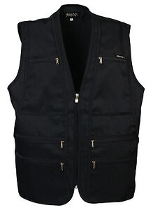 Mens 9 pockets travel safari waistcoat hunting fishing work vest photo jacket