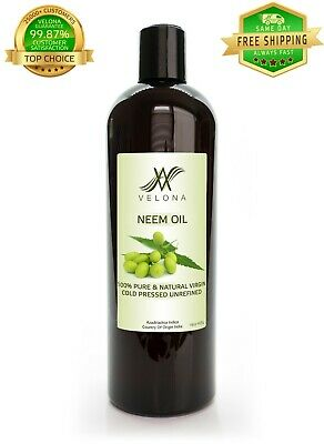 NEEM OIL UNREFINED NATURAL VIRGIN COLD PRESSED RAW VELONA 16 oz Home & Garden