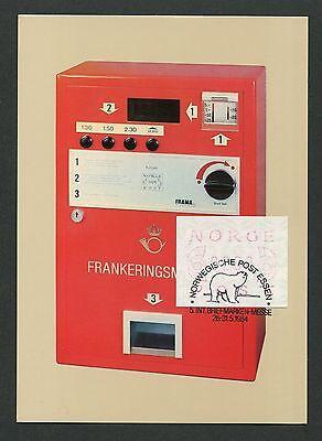 NORWEGEN MK 1984 ATM MESSE ESSEN MAXIMUMKARTE CARTE MAXIMUM CARD MC CM d5174