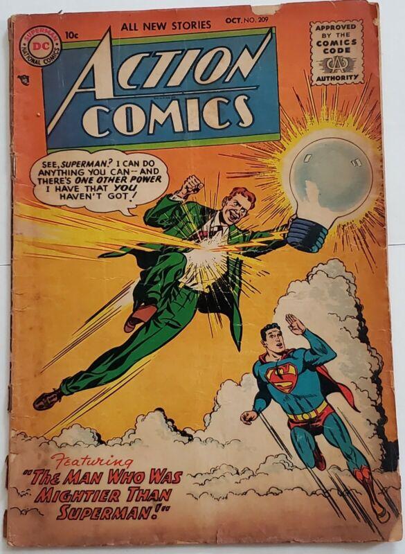 DC Action Comics Superman #209 oct 1955