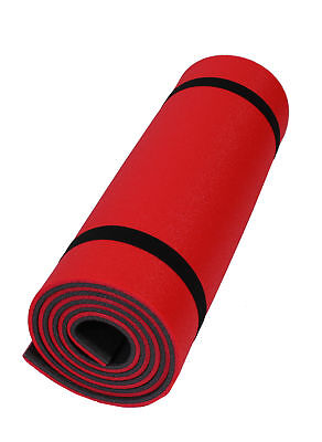 Yogamatte rot schwarz Pilates Fitness Sport Gymnastik Matte rutschfest 180x50x1 Rutschfest