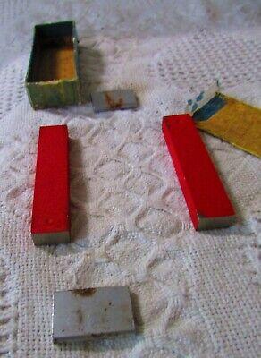 Vintage Set of (2) Bar Magnets, Red, Estate Find