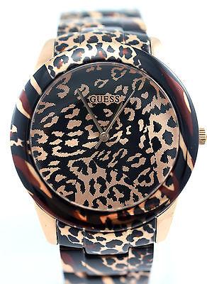 GUESS Women U0425L3 Analog Rose Gold-tone Animal Print Bracelet $185