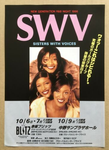 $0 ship! SWV Japan PROMO flyer MINI poster 1996 tour SISTERS WITH VOICES