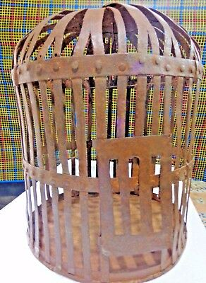 Vintage Bird cage Light weight Hand made Iron strips Low cost yard decor India