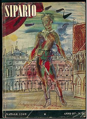 SIPARIO N. 44 NATALE 1949 RIVISTA TEATRO CINEMA BRUNO MUNARI SUPERVIELLE