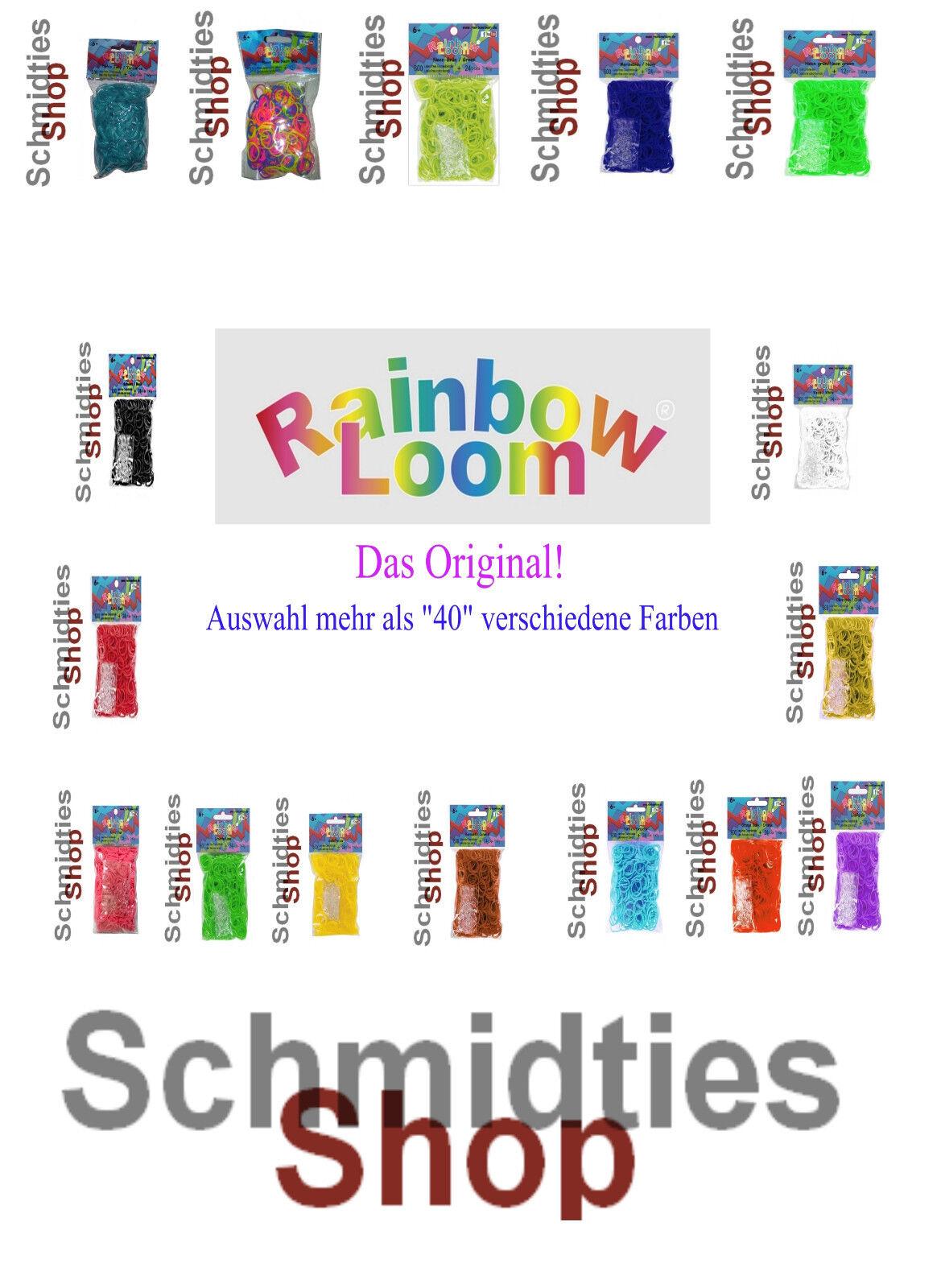 über 40 verschiedene Farben an Loombänder Rainbow Loom® Das Original!!
