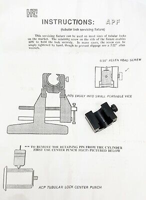 Hpc Apf Tubular Lock Servicing Fixture Tool Locksmith Repair Nos