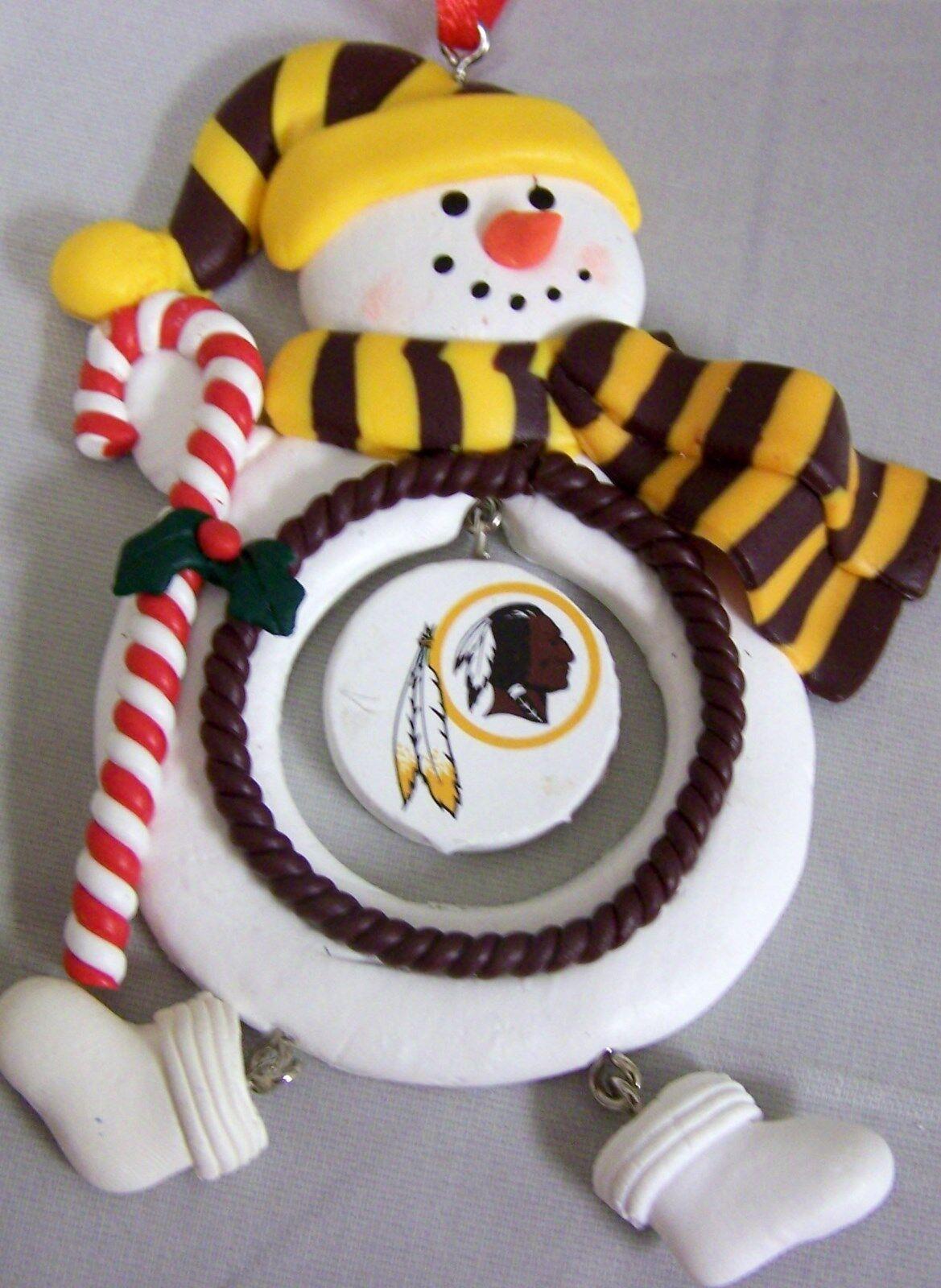 Washington Redskins NFL Clay Dough Snowman Christmas Tree ...