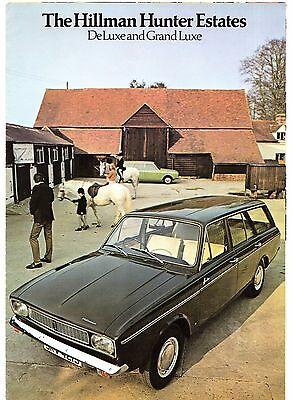 Hillman Hunter Estate 1971-72 UK Market Foldout Sales Brochure GL De Luxe