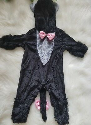 Spirit Halloween Infant 0-6 Month Old Black Baby Pretty Little Kitty Costume - 6 Month Old Halloween Costume