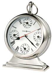 635-212 HOWARD MILLER NEW METAL MANTEL CLOCK -GLOBAL TIME 635212