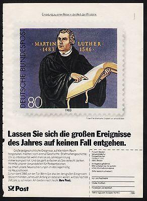 3w1009/ Alte Reklame - von 1984 - Die POST