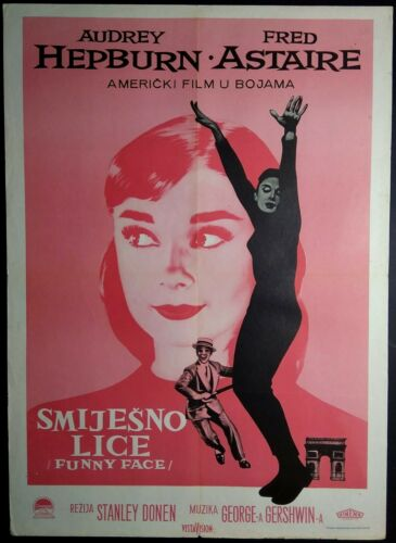 FUNNY FACE AUDREY HEPBURN 1957 FRED ASTAIRE RARE EXYU MOVIE POSTER