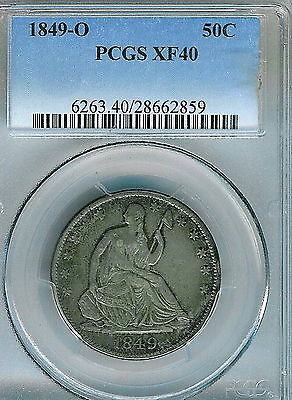 Click now to see the BUY IT NOW Price! 1849 O SEATED LIBERTY HALF DOLLAR : PCGS XF40