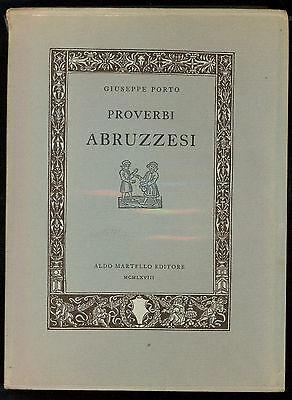PORTO GIUSEPPE PROVERBI ABRUZZESI MARTELLO 1968
