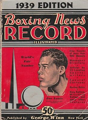 Boxing News Record Illustrated 1939 Edition With Joe Louis Cover