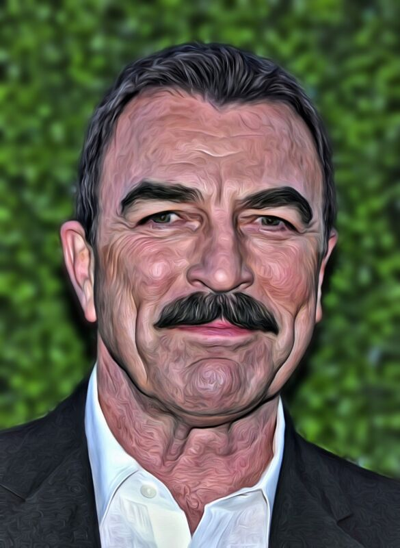 Tom Selleck Actor Painting 8x10 Photo Print