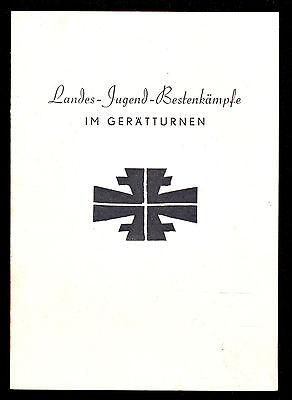 URKUNDE: LANDES-JUGEND-BESTENKÄMPFE IM GERÄTTURNEN, HUSUM 1955