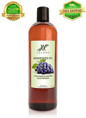 Grapeseed Oil 16 oz FOOD NATURAL CARRIER Cold Pressed 100% PURE VELONA Health & Beauty
