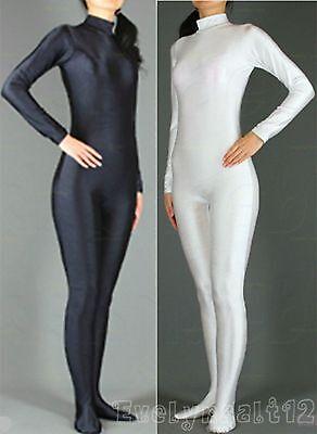 Wholesale Lycra Spandex Adult Unitard Catsuit Bodysuit Back Zip 5 Sizes  - Adult Catsuit